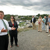 Rockport: Lt. Gov. Tim Murray, along with State Rep. Ann Margaret Ferrante, talks to Rockport residents, selectman and harbor committee members about the grant given to town at Granite Pier Thursday afternoon. Murray announced that Rockport will receive a $220,000 state grant for the survay of Rockport harbors, wharfs and piers. Mary Muckenhoupt/Gloucester Daily Times