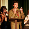 "Gloucester: Deborah Michel, Patrice Kelly, Will Rousmaniere, and Seania McCarthy perform ""You're Never Fully Dressed Without a Smile."" The Annisquam Village Players will be performing ""Annie"" Tuesday through Sunday at the Annisquam Village Hall. Photo by Kate Glass/Gloucester Daily Times"