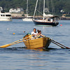 Gloucester: Mark Harmon and his daughter Devon, 16, head out on their race against Bill and Jean Baumann during the International Dory Race Elimination races at Niles Beach Saturday morning. Mark and Devon won the race. Mary Muckenhoupt/Gloucester Daily Times
