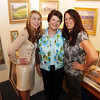David Le/Gloucester Daily Times. Dorothy Ramsey, center, the owner of the Michael Stoffa Gallery in Rockport, is surrounded by her daughter, Mary Douyard, right, and her granddaughter, Rachel Douyard, left. Friday evening from 4-8 and Saturday afternoon 12-4, they will be hosting a farwell reception as they will be closing the gallery after 47 years. 8/18/11.