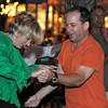 Gloucester: Mike and Tracy Gothie of Manchester,cut up the pavement while dancing to live music on Main St at the Annual Block Party Saturday night.   Desi Smith /Gloucester Daily Times. August 20,2011