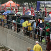 David Le/Gloucester Daily Times. Despite bouts of heavy rain, large crowds of spectators stood along the boulevard to cheer on competitors in the Gloucester Fisherman Triathlon on Sunday morning. 8/7/11.