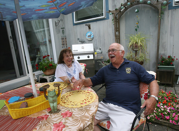 John Amirault and his wife, Patricia, have enjoyed living on Conomo Point year-round for over 20 years, but are worried the bridge lease will be too expensive for them on their fixed income. Photo by Kate Glass/Gloucester Daily Times