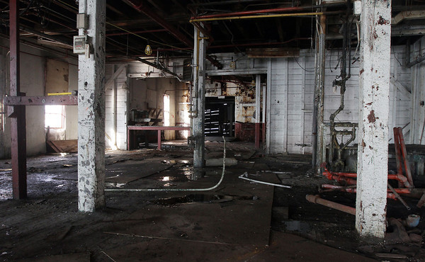 David Le/Gloucester Daily Times. A look inside one of the old Paint Factory buildings that is being renovated. 8/17/11.