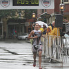 David Le/Gloucester Daily Times. Catherine Sterling, of the women's elite class, crosses the finish line first to take home the women's triathlon title for 2011. 8/7/11.