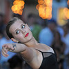 Gloucester:Lilly Anderson 16, from Cape Ann Center for Dance on Emerson Ave run by Kim Blisard, dances before for a crowd on Main St durring the Annual Block Party Saturday night.   Desi Smith /Gloucester Daily Times. August 20,2011