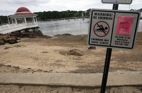 The beach at Tuck's Point was closed for swimming Thursday and reopened Friday afternoon due to high bacteria levels. Photo by Kate Glass/Gloucester Daily Times