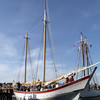 David Le/Gloucester Daily Times. The Schooner Ardelle pulls into the dock at Maritime Gloucester on Wednesday evening to hundreds of eager spectators. 8/24/11.