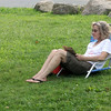 "ALLEGRA BOVERMAN/Gloucester Daily Times Maureen Dermody of Manchester was reading and relaxing at Tuck's Point on Wednesday afternoon. Her granchildren were away for a couple of days camping and she had some time to herself. ""It's a little bit of a treat,"" she said of her free time, ""not that I don't love them."""