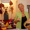 "ALLEGRA BOVERMAN/Gloucester Daily Times Artist and designer Sigrid Olsen designed a hat  on Friday for the ""Pass the Hats"" - a Gala Celebration of Gloucester's Rocky Neck Cultural District on Friday, August 17, from 6-10 pm. at 6 Wonson St. in Gloucester."