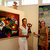 ALLEGRA BOVERMAN/Gloucester Daily Times From left: Cynthia Switzer Roth and Anne Marie Crotty in the newly renovated and rebuilt Flatrocks Gallery in Lanesville. The gallery officially opens this weekend.