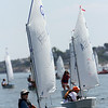 ALLEGRA BOVERMAN/Gloucester Daily Times Jared Gilman, 12, of the Annisquam Yacht Club, was participating in the Championship Optimus race off Wingaersheek Beach on Monday. The Annisquam Yacht Club is hosting the three-day-long Junior Olympic Sailing Festival.