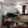 ALLEGRA BOVERMAN/Staff photo. Gloucester Daily Times. The inside of a first floor room at 12 Columbia Street as the house was being demolished on Thursday morning.