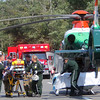 ALLEGRA BOVERMAN/Gloucester Daily Times A medical helicopter transported a woman to Tufts Medical center on Thursday afternoon following a crash along Route 128 North near Exit 14.