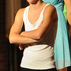 """Jim Vaiknoras/Gloucester Daily Times. David Sullivan as Tyrone Jackson in rehearsal for """"Fame Junior""""  with O'Maley Middle School Drama Camp Thursday. The performance is at noon on Friday, at the Middle School, admission is free."""