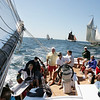 Gloucester:  The Thomas E. Lannon schooner, captained by Tom Ellis, leads the race for its class during the Annual Schooner Festival Mayor's Race held off of Gloucester on Sunday morning.  The Lannon finished in first place for the first time in 12 years.  <br /> Photo by Kristen Olson/Gloucester Daily Times Sunday, August 31, 2008<br /> , Gloucester:  The Thomas E. Lannon schooner, captained by Tom Ellis, leads the race for its class during the Annual Schooner Festival Mayor's Race held off of Gloucester on Sunday morning.  The Lannon finished in first place for the first time in 12 years.  <br /> Photo by Kristen Olson/Gloucester Daily Times Sunday, August 31, 2008
