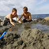 Rockport: Kevin Hannon, 12, and Daniel Hannon, 10, who summer in Rockport, build a dam on Old Garden Beach to create a tidal pool. The two start school in Melrose tomorrow, but hope to move to Rockport year-round soon. Photo by Katie McMahon/Gloucester Daily Times Tuesday, September 2, 2008<br /> , Rockport: Kevin Hannon, 12, and Daniel Hannon, 10, who summer in Rockport, build a dam on Old Garden Beach to create a tidal pool. The two start school in Melrose tomorrow, but hope to move to Rockport year-round soon. Photo by Katie McMahon/Gloucester Daily Times Tuesday, September 2, 2008