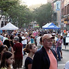 Gloucester: Hundreds fill Main St Saturday afternoon for the Block Party,were they could enjoy a meal out side, listen to music, watch dance, and shop. Desi Smith Photo/Gloucester Daily Times. July 18,2009.