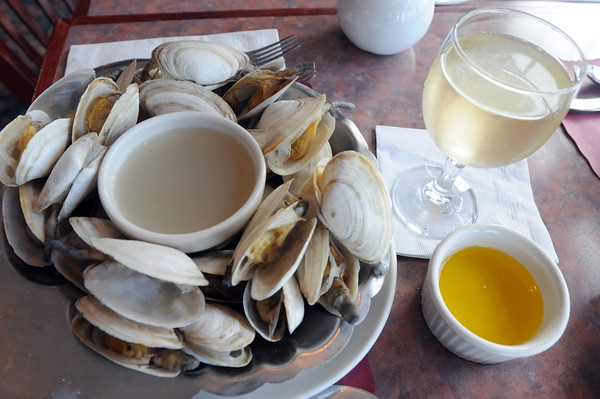 Village has award winning chowder and steamers, the flavor of which, the owner, Kevin Ricci, says is light and simple.<br /> Photo by Mike Dean