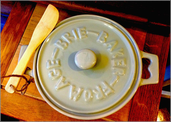 Heather Atwood/Special to the Times<br /> Find this attractive ceramic brie baker at Lula's Pantry in Rockport.