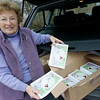 "Gloucester: Erma Cohen has sold over 100 copies of Temple Ahavat Achim's cookbook, ""Our Best Recipes,"" from the back of her car. Photo by Kate Glass/Gloucester Daily Times Monday, December 7, 2009"