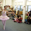 "Essex: Kimberly Dawes perfoms to Tchaikovsky's ""Dance of the Sugar Plum Fairies"" form the Nutcracker during the Nutcracker celebration at the TOHP Burnham Library Saturday afternoon. The event included holiday stories and yummy cookies and snacks. Mary Muckenhoupt/Gloucester Daily Times"