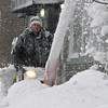 Gloucester: Randy Blake removes the snow from in front of Camerons with his snowblower sunday afternoon on Main St.  Desi Smith Photo/Gloucester Daily Times. December 20,2009.