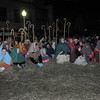 Rockport: Performers dressed as shepherds and on lookers watch the re-enactment of the birth of Christ Saturday night at the 1st Congreational Church for the 64th Annual Christmas Nativity Pageant. Desi Smith Photo/Gloucester Daily Times. December 19,2009.