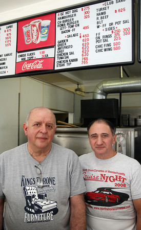 Gloucester: Ray Felice and Pat Ferullo are the new owners of Roma Pizza at the corner of Centennial and Western Ave. Photo by Kate Glass/Gloucester Daily Times