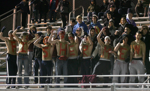 Lynn: Gloucester fans braved the cold to show their support for the football team as they earned their third consecutive trip to the Super Bowl beating Westford Academy 34-28 at Manning Field in Lynn last night. Photo by Kate Glass/Gloucester Daily Times