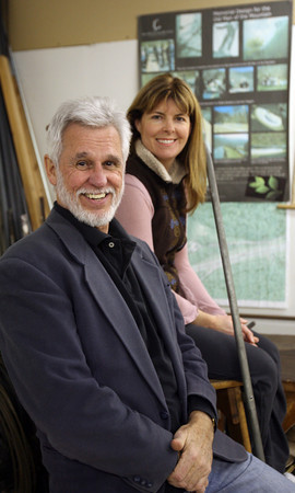 Essex: Ron Magers and Shelly Bradbury created the design for the Old Man in the Mountain memorial, which was supposed to have been completed in 2010, but only $650,000 of the $5 million needed for the project has been raised. Photo by Kate Glass/Gloucester Daily Times