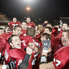 Lynn: The Gloucester football team celebrates their third consecutive trip to the Super Bowl following their 34-28 win over Westford Academy at Manning Field in Lynn last night. Photo by Kate Glass/Gloucester Daily Times