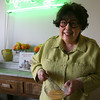 Marilynn Brass whisks the eggs. Photo by Kate Glass/Gloucester Daily Times
