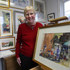 Rockport: Phyllis Kaplan of Rockport is now displaying her paintings from a recent trip to Mexico at Jalapenos Restaurant in Gloucester. Photo by Kate Glass/Gloucester Daily Times