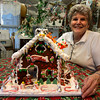 Gloucester: Barbara Catalini, owner of Cakes by Barbara, will be a judge for the gingerbread house contest for the Middle Street Walk on Saturday. Barbara made a gingerbread house that will be on display at City Hall during the competition, although it will not be part of the contest. Photo by Kate Glass/Gloucester Daily Times Wednesday, December 9, 2009