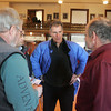 Gloucester: Republican senate candidate Scott Brown talks with Bill Homes and Doug Parsons, right, at City Hall while campaigning in Gloucester Saturday. Brown, who is running against Martha Coakley for the senate seat, was touring various spots in Gloucester with Sen. Bruce Tarr Saturday afternoon. Mary Muckenhoupt/Gloucester Daily Times