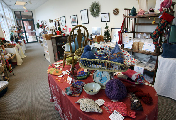 Gloucester: Present, which features the work of fourteen local artisans, is open from 10-5 Monday-Wednesday and Saturday, 10-9 on Thursday, and 12-5 on Sunday. <br /> Photo by Kate Glass/Gloucester Daily Times Monday, December 14, 1009