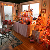 Gloucester: Daphne Papp of Gloucester decorates her sunroom with Barbies for Christmas in addition to more traditional decorations throughout the house. Photo by Kate Glass/Gloucester Daily Times