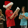 """Essex: Ben Lantz, playing Papa Bear, reheases for """"The Surprising Story of the Three Little Pigs"""" at Essex Elementary School Wednesday afternoon.  The play, directed by Nancy Adams, is in its begining stages and is being performed at the school Febraury 10th and 11th. Mary Muckenhoupt/Gloucester Daily Times"""
