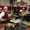 Gloucester: Ryan Hull plays the drums as the Gloucester High School Docksiders play for their Disney character buffet breakfast at the Gloucester High School fieldhouse Saturday morning.  The fundraiser breakfast offered live music with Santa and 15 Disney characters for kids to meet. The Docksiders are raising money for their trip to Paris in 2012. Mary Muckenhoupt/Gloucester Daily Times