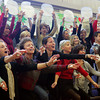 "Manchester: The faculty at Manchester Elementary School sing ""Marshmallow World"" as the finale to the school's Holiday Concert Friday monring. Mary Muckenhoupt/Gloucester Daily Times"