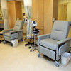 Gloucester: The treatment area in the Gorton's Cancer Care Center. Photo by Kate Glass/Gloucester Daily Times