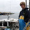 ALLEGRA BOVERMAN/Staff photo. Gloucester Daily Times. Gloucester: Peter Kammerer, young lobsterman.