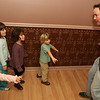 "ALLEGRA BOVERMAN/Staff photographer. Gloucester Daily Times. Gloucester:Playing theater games during ""My First Acting Class,"" with teacher Jape Payette, far right, are, from far left: Lizzie Sly, 4, of Rockport, Alexandra Johnson, 6, of Rockport, Emrose Williams, 4, of Rockport, and Julian Nixon, 4, of Lanesville. The drop-in class is from 4:30 - 5:30 p.m. every Tuesday at the Pleasant Street Tea Co. on Pleasant Street in Gloucester for children aged 4-6 years old. Every six to eight weeks, they put on a little show for parents, and the kids learn the basics of acting, learn to listen, help each other out, stay still and not fidget and other important skills for not only acting, but life in general. Contact Payette at 978-879-9293 for more information or see japescape.com"