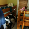 This bedroom, for men only, can hold up to four people a night. Jesse Poole/Gloucester Daily Times Dec. 05, 2011