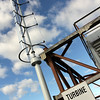 ALLEGRA BOVERMAN/Staff photo. Gloucester Daily Times. Gloucester: The new turbine on top of O'Maley Middle School.
