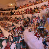 ALLEGRA BOVERMAN/Staff photo. Gloucester Daily Times. Gloucester: Details of the huge village holiday display at Vincent Orlando's home in Gloucester. There are over 200 pieces in this display, which fills the family's living room. There are more pieces that they have no room to show, so they're still packed away.