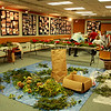 The women of the Gloucester Garden Club sit back, relax and have lunch together after creating a wreaths for the purpose of decorating the Sawyer Free Library this season. They collected the greenery from there own yards. Jesse Poole/Gloucester Daily Times Dec. 07, 2011