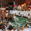 ALLEGRA BOVERMAN/Staff photo. Gloucester Daily Times. Gloucester: Details of the huge village holiday display at Vincent Orlando's home in Gloucester. This detail depicts a Gloucester scene.