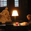 ALLEGRA BOVERMAN/Staff photo. Gloucester Daily Times. Manchester: Tony Bullock of Manchester reads in the quiet reading area of the Manchester Public Library on Thursday afternoon.